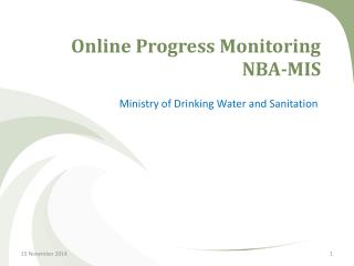 Online Progress Monitoring  NBA-MIS