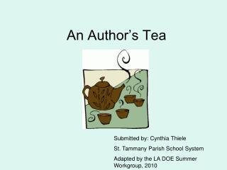 An Author's Tea