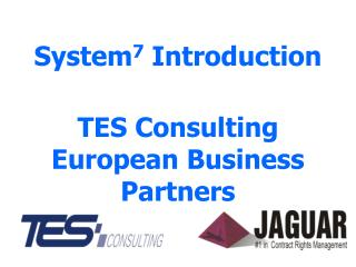 System 7  Introduction TES Consulting European Business Partners