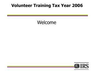 Volunteer Training Tax Year 2006