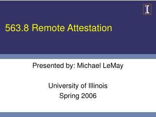 563.8 Remote Attestation