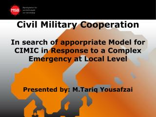 Civil Military Cooperation