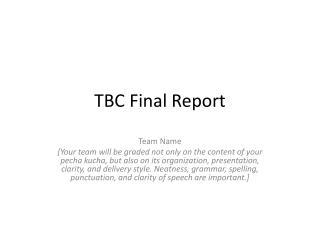TBC Final Report