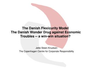 Jette Steen Knudsen  The Copenhagen Centre for Corporate Responsibility