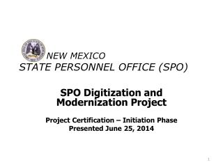 NEW  MEXICO State Personnel Office (SPO)