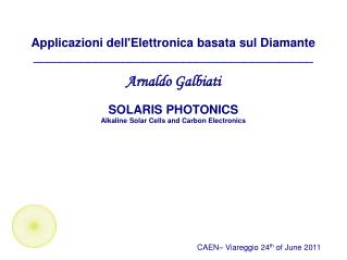 Applicazioni dell'Elettronica basata sul Diamante _________________________________________