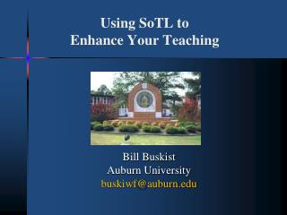 Using SoTL to  Enhance Your Teaching