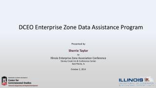 DCEO Enterprise Zone Data Assistance Program