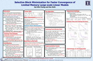Selective Block Minimization for Faster Convergence of Limited Memory Large-scale Linear Models