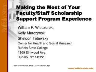 Making the Most of Your Faculty/Staff Scholarship Support Program Experience