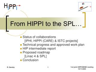 From HIPPI to the SPL…