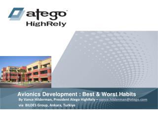 Avionics Development : Best & Worst Habits