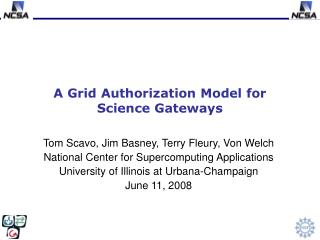 A Grid Authorization Model for Science Gateways