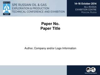 Paper No. Paper Title