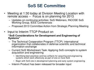 SoS SE Committee