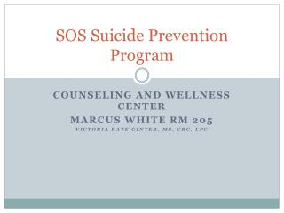 SOS Suicide Prevention Program