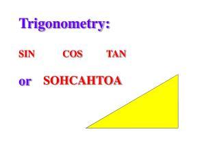 Trigonometry: SINCOSTAN or