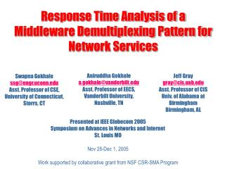 Response Time Analysis of a Middleware Demultiplexing Pattern for Network Services