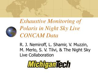 Exhaustive Monitoring of Polaris in Night Sky Live CONCAM Data