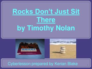 Rocks Don't Just Sit There by Timothy Nolan