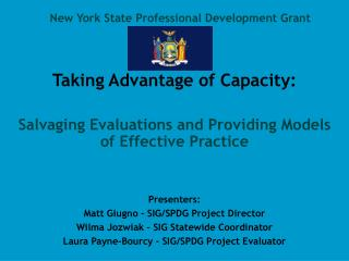 New York State Professional Development Grant