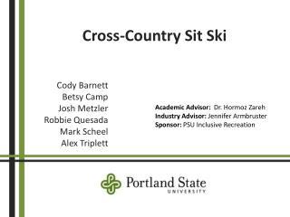 Cross-Country Sit Ski