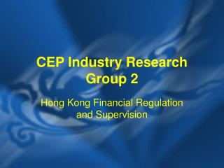CEP Industry Research Group 2