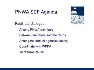 PNWA SEF Agenda
