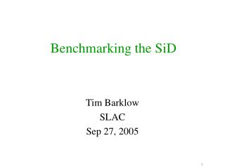 Benchmarking the SiD