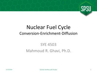 Nuclear Fuel Cycle Conversion-Enrichment-Diffusion