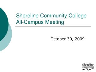 Shoreline Community College All-Campus Meeting