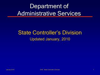 Department of  Administrative Services