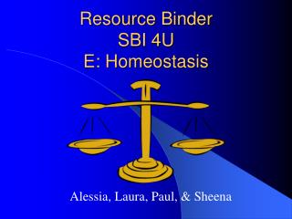 Resource Binder SBI 4U E: Homeostasis