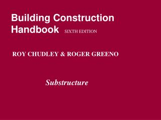 Building Construction Handbook SIXTH EDITION