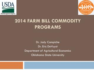 2014 Farm bill COMMODITY programs