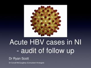 Acute HBV cases in NI - audit of follow up