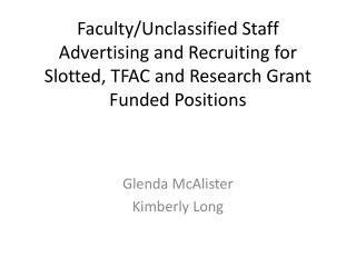 Glenda McAlister Kimberly Long