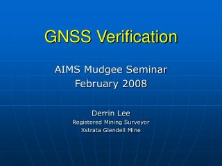 GNSS Verification