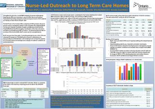 Nurse-Led Outreach to Long Term Care Homes