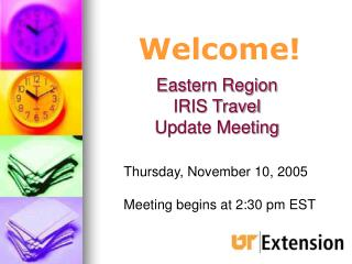 Eastern Region  IRIS Travel  Update Meeting