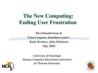 The New Computing: