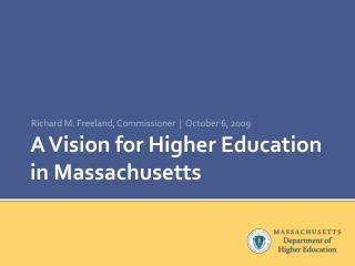 A Vision for Higher Education in Massachusetts
