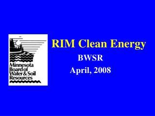 RIM Clean Energy