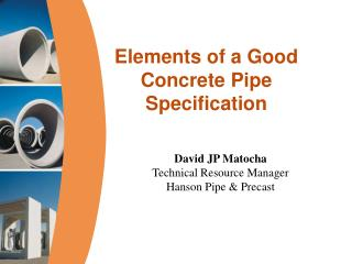 Elements of a Good Concrete Pipe Specification