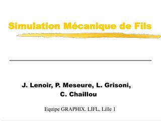 Simulation M canique de Fils