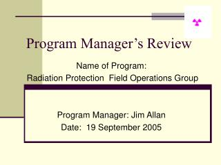 Program Manager's Review