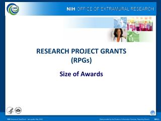 RESEARCH PROJECT GRANTS  (RPGs) Size of Awards