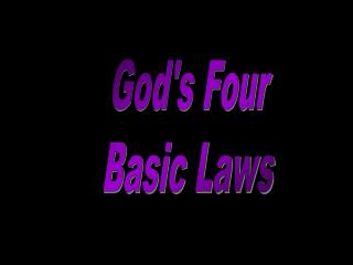 God's Four Basic Laws