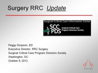 Surgery RRC   Update