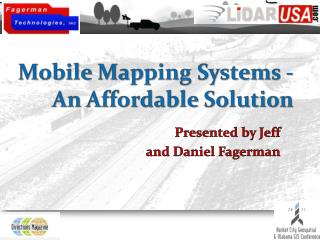 Mobile Mapping Systems - An Affordable Solution